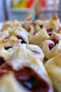 Brie & Raspberry Wraps
